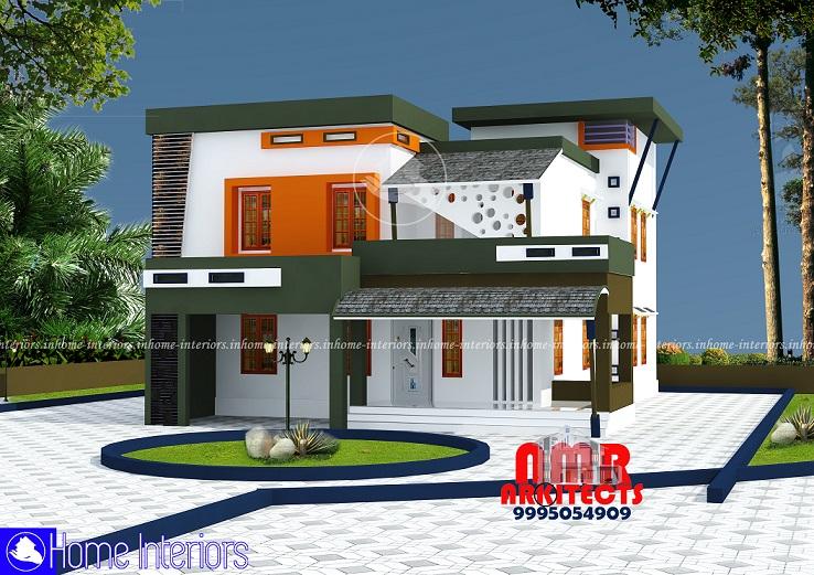 2594 Square Feet Double Floor Contemporary Home Design