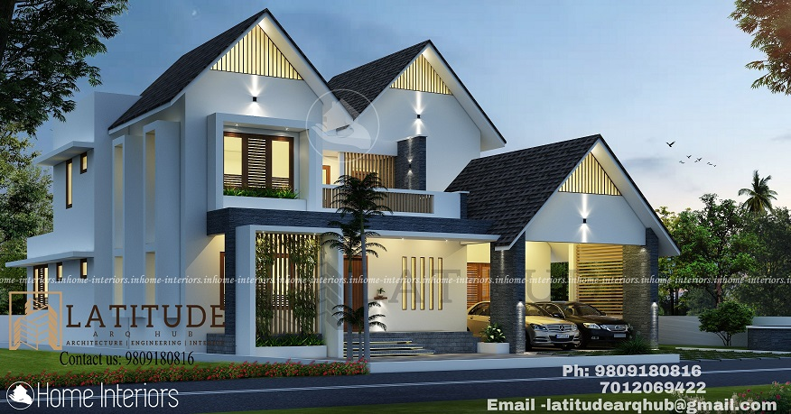 2754 Square Feet Double Floor Contemporary Home Design
