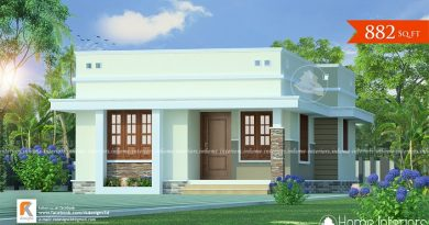 882 Square Feet Single Floor Contemporary Home Design