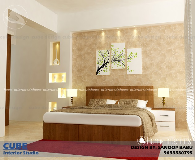 2 bhk contemporary low budget home interior designs for Bedroom designs low budget