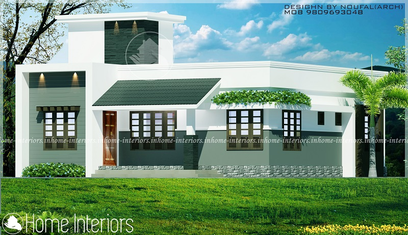 Charmant 1058 Square Feet Single Floor Contemporary Home Designs