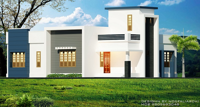 1300 square feet single floor contemporary home designs for Cost to build 1300 square foot house