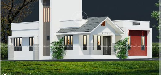 1070 Square Feet Single Floor Contemporary Home Design