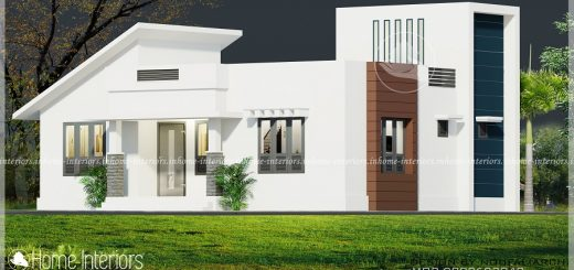 1078 Square Feet Single Floor Contemporary Home Design