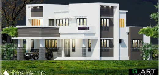 1700 Square Feet Double Floor 4 BHK Modern Home Design