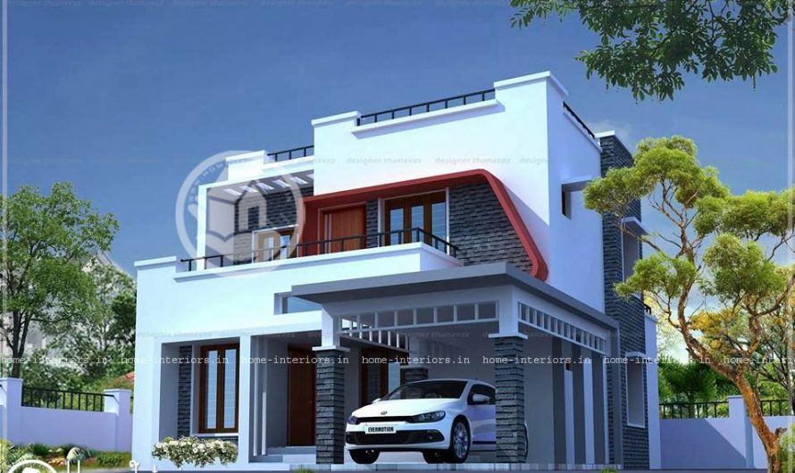 1786 Sq Ft Double Floor Kerala Modern Style Villa