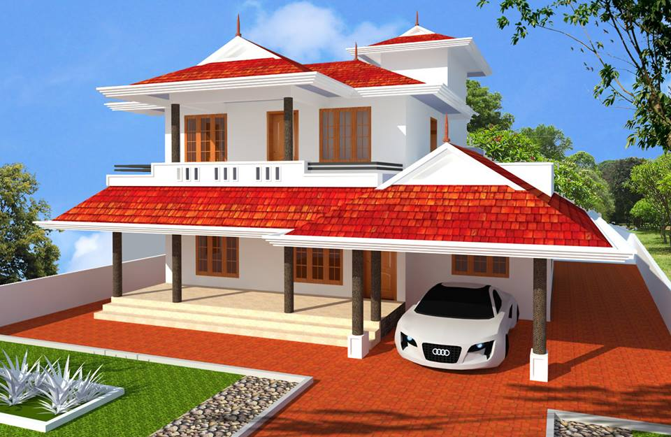 Top 7 kerala beautiful home designs for Home design images