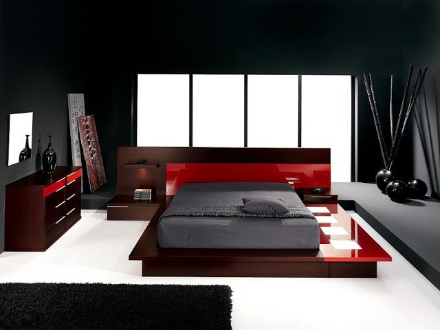 The modern style to interior design bedrooms