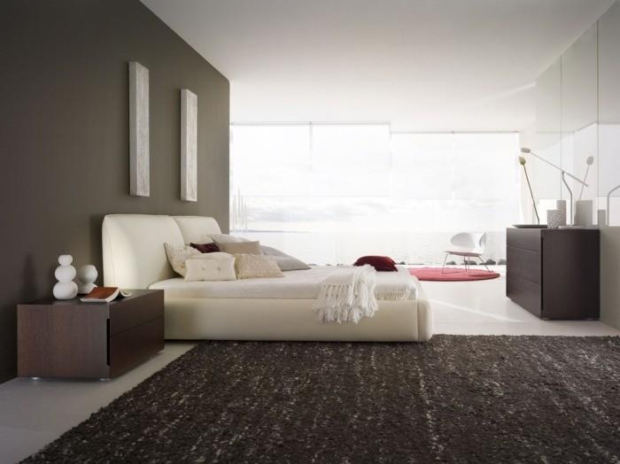 moderno diseno minimalista de un dormitorio blanco