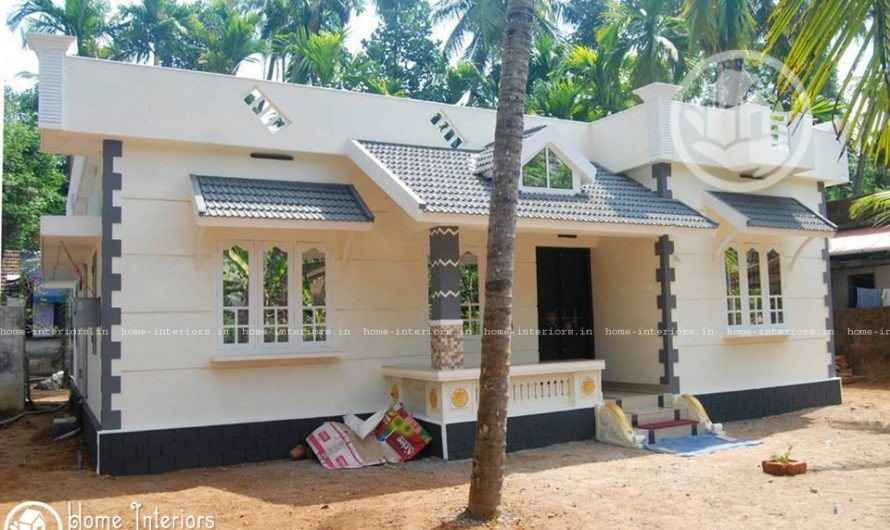 1187 Sq Ft, Beautiful Kerala Style Home Design With Plan