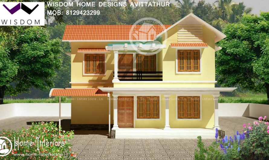 1300 Sq ft , New Kerala Style Home Design in 8 Cents