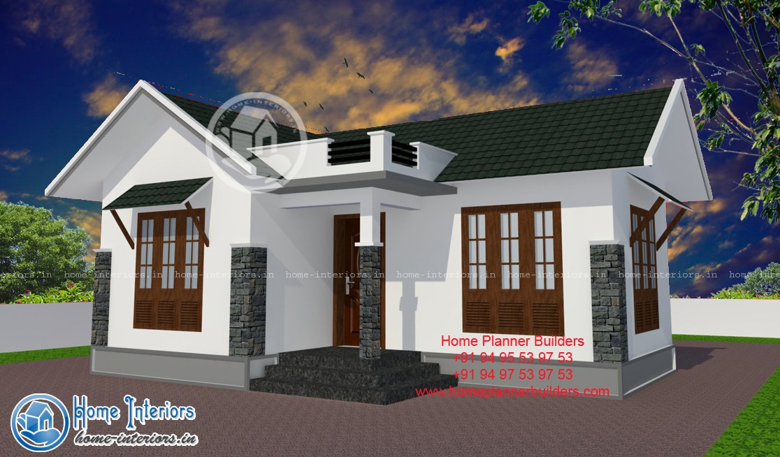 Kerala new style home design 10 lakh for Home design images