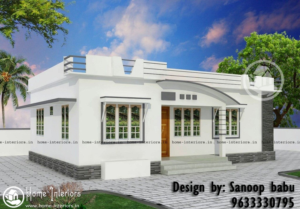 800 sq ft modern style kerala home design 10 5 lakh for Home plans designs kerala