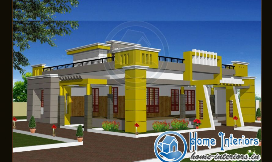 1990 Sq Ft , Modern Style Home Design