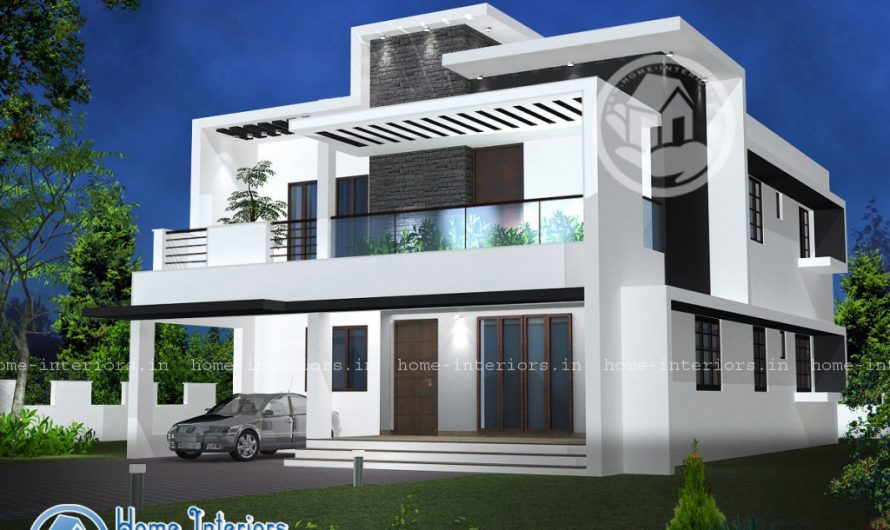 Double Floor Modern Style Home Design 2000 sq ft