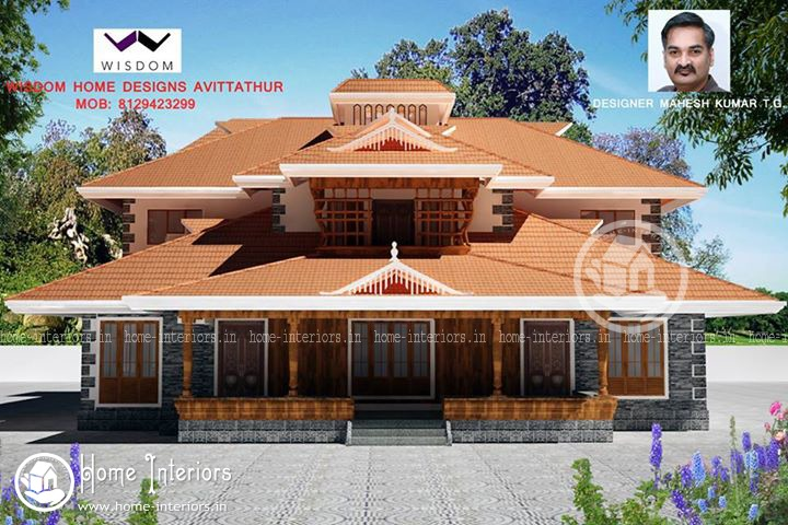 3501 sq ft 4000 sq ft archives home interiors for Traditional home designs kerala