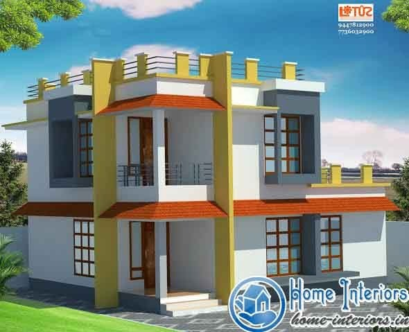 1229 Sq Ft, Contemperory Traditional Compo Home Design