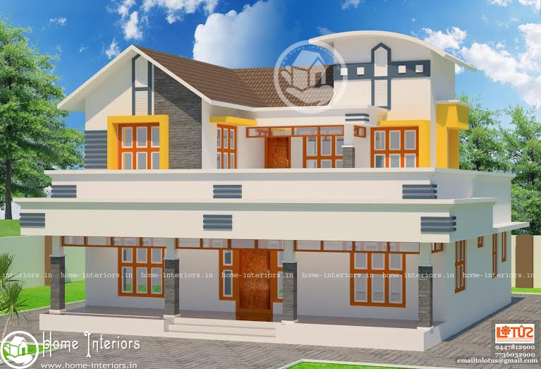 Modern Home Design of 2054 Square Feet