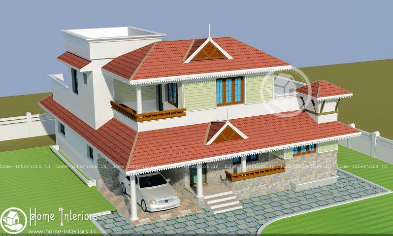 2500 sq ft, Beautiful kerala Home Design With Plan