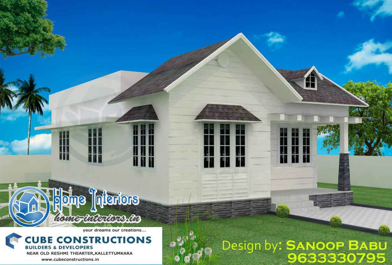 800 sq ft stylish kerala home design 11 lakh for Designed home plans