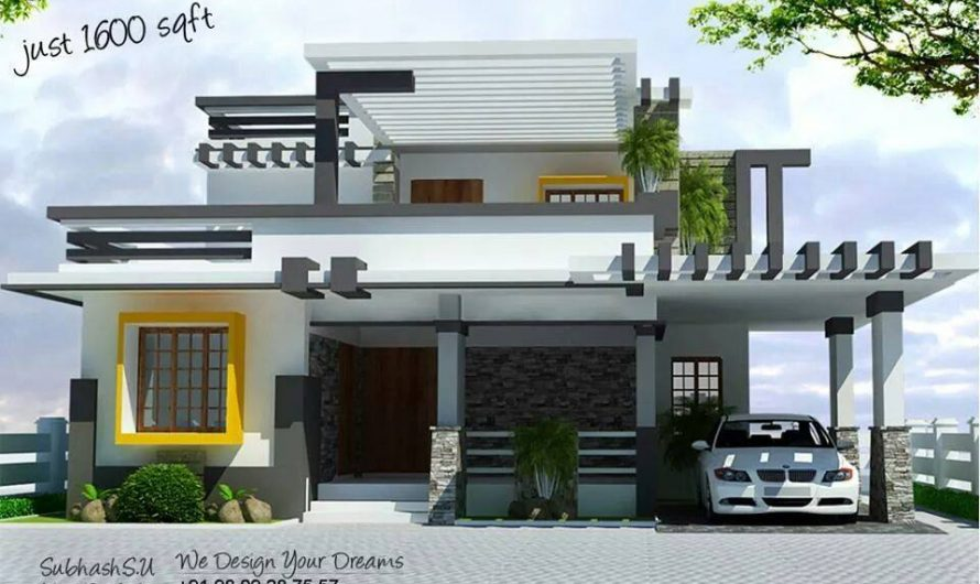 1600 Square Feet Double Floor Contemporary Home Design