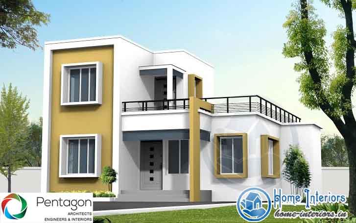 1475 SQ FT, DOUBLE FLOOR HOME DESIGN & HOME PLAN