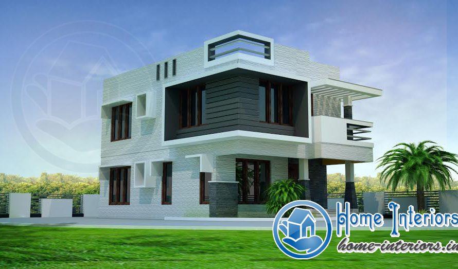 1100 Square Feet Double Floor Modern Home Design