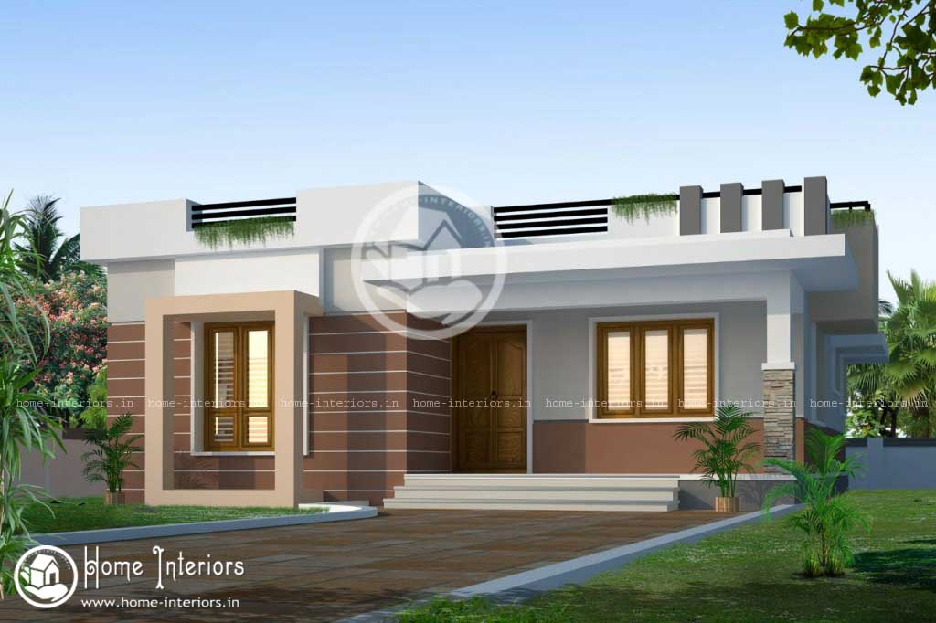 850 sqft 2bhk modern style house 2015 for Modern kerala style house plans with photos