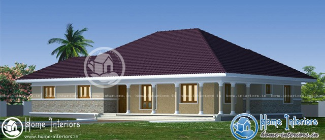 1955 sq ft, Single story traditional house Plan
