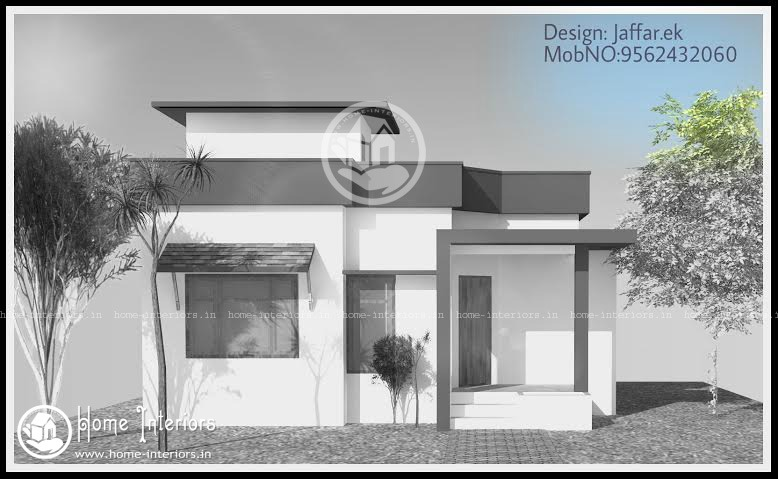 750 sq ft contemporary home design for small plot