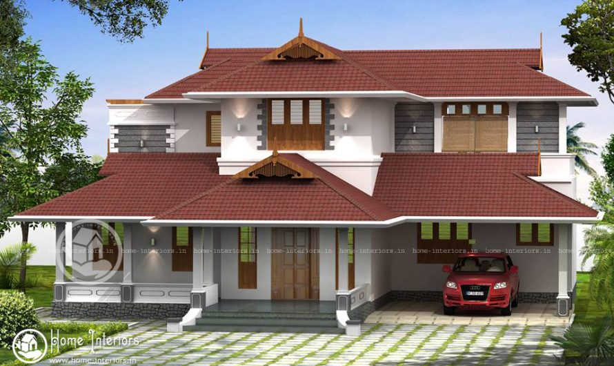 2300 Square Feet Double Floor Traditional Home Design