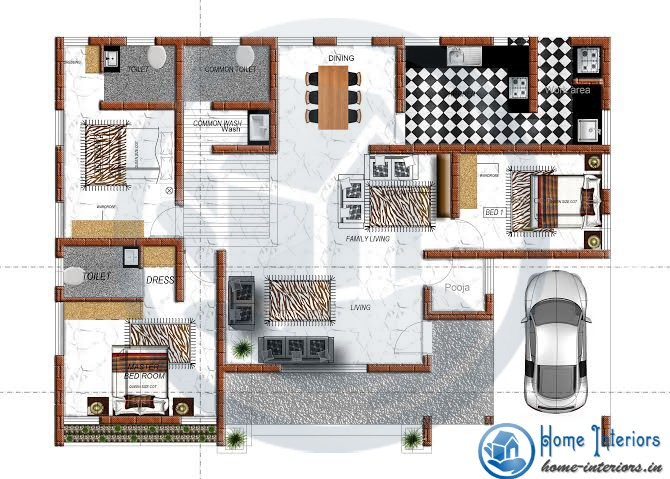 1798 Sq Ft Amazing And Beautiful Kerala Home Designs plan