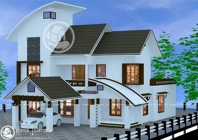 2289 Sq Ft, Double Floor Home Plan