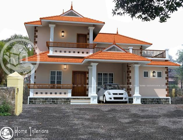 2334 Sqft, Traditional Kerala house Design