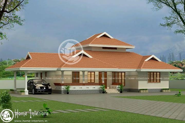 2353 sq ft, Beautiful Single Floor Home Design