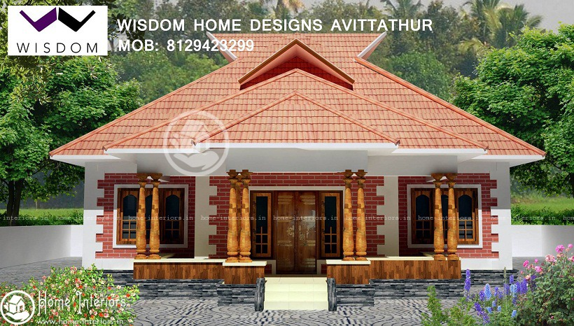 950 sq ft kerala traditional home design for Traditional style house plans