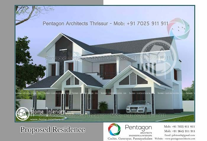 Contemporary Single Floor Home In 1350 Sq Ft: 900 Sq Ft Single Floor Modern Villa Home Design