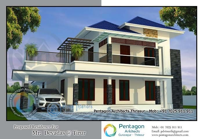2528 Sq Ft, Double Floor Kerala Home Design