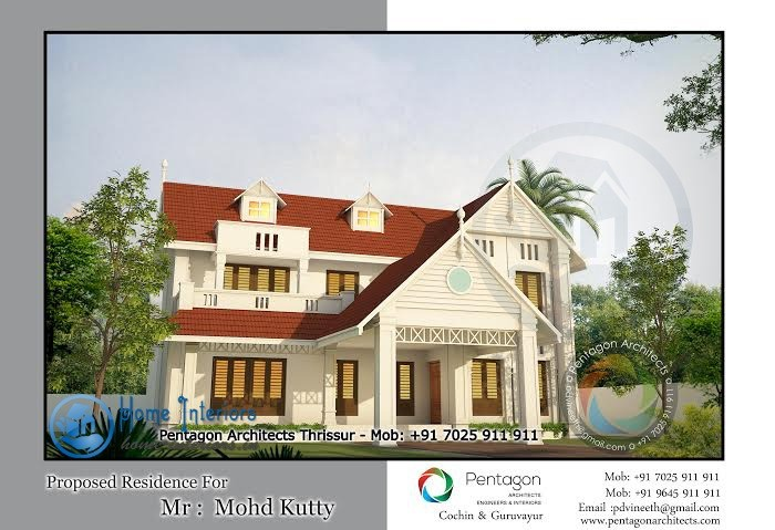 2950 Sq Ft, Double Floor Kerala Home Design
