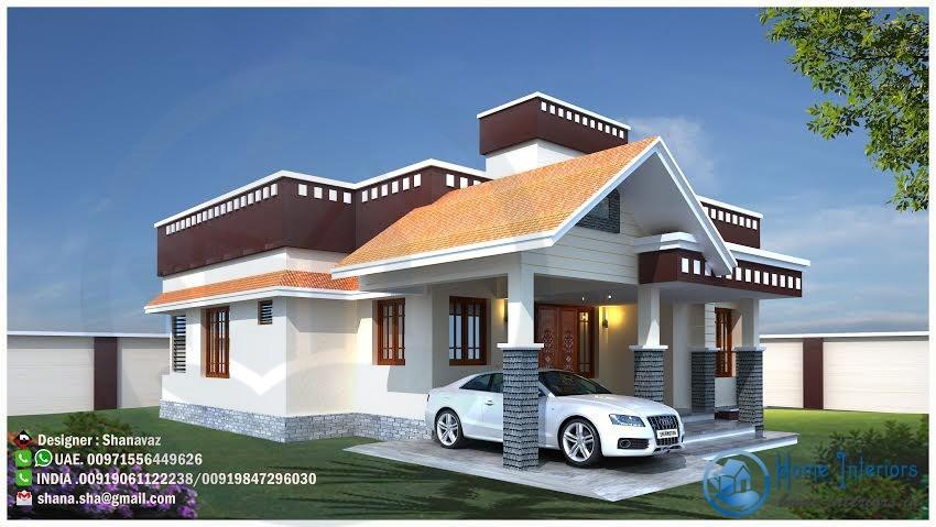 1100 Square Feet Single Floor Contemporary Home Design