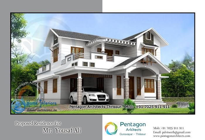 Double floor house plans in kerala gurus floor for Kerala home designs photos in double floor