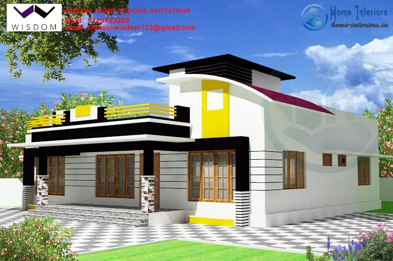 Modern single storied kerala home plan 4bhk for Modern single door designs for houses