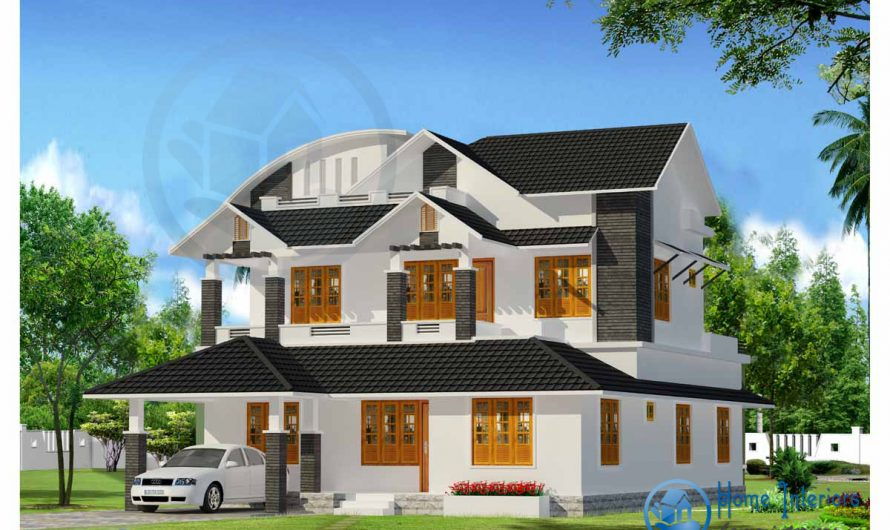 Extra Ordinary Picturesque Double Floor Home Designs