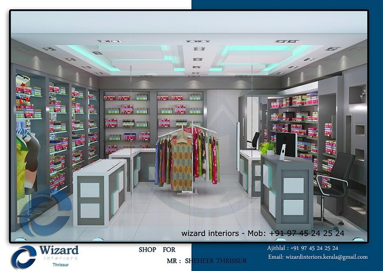 Dazzling Kerala Shop Modern Interior Designs