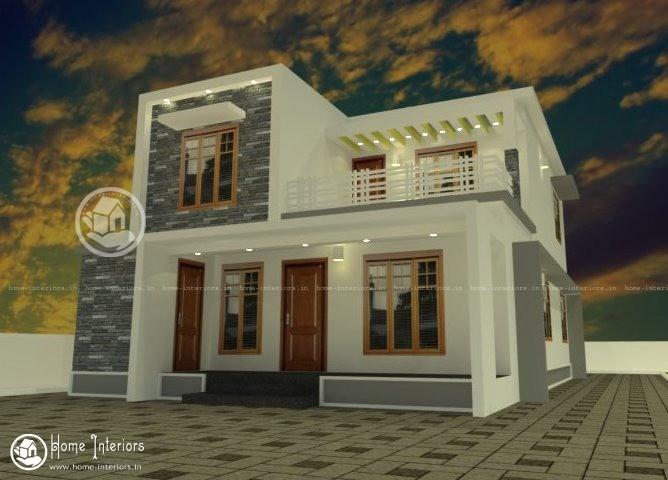 Advanced Double Floor Design For Kerala Homes