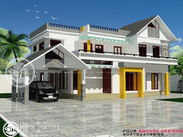 Astonishing Double Floor Kerala Home Designs (2157 Sq Ft)