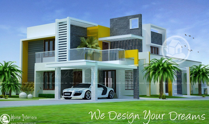 Enchanting Double Floor Modern Home Design
