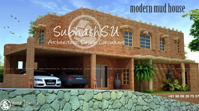 1900 Square Feet Modern Mud Double Floor Home Design