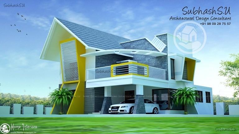 Outstanding Contemporary Double Floor Home Design
