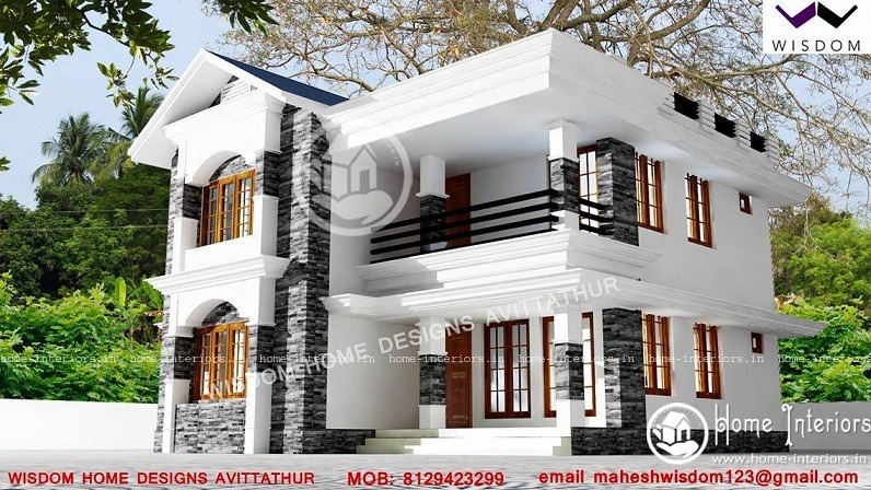 1807 Sq Ft Modern Style Double Floor Home Design